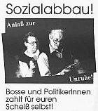 Aufruf des ASY-Berlin zum anarcho-syndikalistischen Block auf der Demo gegen die 'Agenda 2010' am 1.11., 13.00 Uhr, Alex