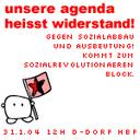 Unsere Agenda heißt Widerstand!