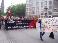 Montagsdemo in Hamburg