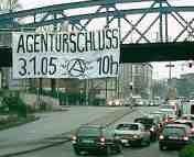 Aufruf zum Agenturschluss in Freiburg