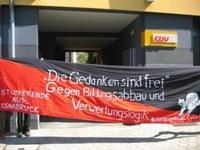 Besetzung des CDU-Büros in Osnabrück