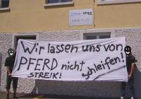 Soli-Aktion in der Schweiz für die Streikenden bei Caballito