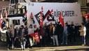 Solidaritätsaktion in Madrid für den Streik bei Gate Gourmet