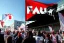 Blockade bei Gate Gourmet Düsseldorf, Besuch von den Streikenden aus London/Heathrow  und Konzert für die Streikkasse