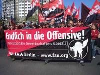 Berlin: FAU-Block auf 1. Mai-Gewerkschaftsdemo