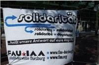 Duisburg: Soli-Aktion für Starbucks-ArbeiterInnen