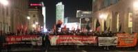 Demonstration für Gewerkschaftsfreiheit zum Berlinale-Abschluss