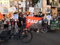 Aktionstag gegen miese Arbeitsbedingungen bei Lieferdiensten