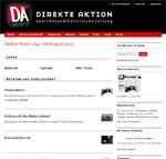 Website der »Direkten Aktion« in neuem Gewand