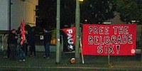 Protest vor dem serbischen Generalkonsulat  - Free the Belgrade 6!
