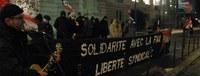 Berichte vom internationalen Aktionstag gegen den Angriff auf die Gewerkschaftsfreiheit (Update 20.02.)