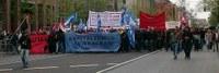Sozialrevolutionäre Vorabenddemonstration zum 1. Mai in Frankfurt/M