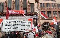 Protestaktionen am 1. Mai: Finger Weg vom Streikrecht – Gewerkschaftsfreiheit statt Arbeitsfront!