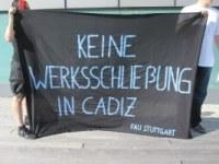 Stuttgart: Soliaktion für die ArbeiterInnen der Cadiz Electronica S.A.