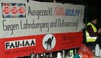 Erfolgreiche Auftaktkundgebung gegen Lohndumping und Outsourcing