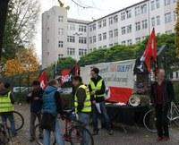 Update - Bericht zur Kundgebung: Ausgezockt, Bally Wulff! Gegen Lohndumping und Outsourcing in Berlin-Neukölln!
