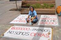Genossin Chus Vila im Hungerstreik