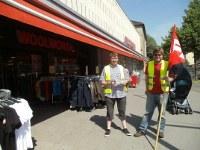 Solidaritätsaktion mit den Beschäftigten im Einzelhandel