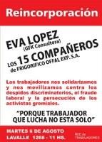 Argentinien: Arbeiter/innen-Netzwerk unterstützt Eva Lopez