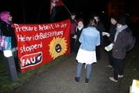 Kundgebung vor der Abschlussveranstaltung der Böll-Tage in Altenburg