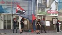 Solidarität mit gekündigtem Gewerkschafter bei der Santander in Spanien