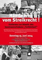 Konferenz gegen Tarifeinheit am 15. Juni in Frankfurt