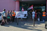 Gewerkschaftlicher Protest gegen hallesches Bowlingcenter
