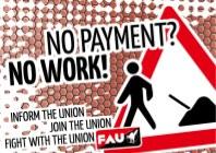Gewerkschaft FAU Dresden fordert: Zahlt endlich!