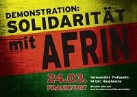 Solidarität mit Afrin! Demo in Frankfurt/Main Samstag 24.3.18 14:00 Hauptwache