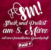 Streikrechtsbroschüre und anderes praktisches für den 8. März