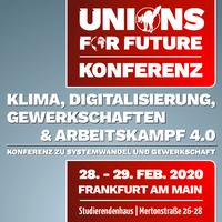 Klima, Digitalisierung, Gewerkschaften & Arbeitskampf 4.0 - Konferenz zu Systemwandel und Gewerkschaft
