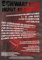 Schwarz-roter Input an der Kante (Lützerath, Rheinland)
