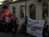 Kundgebung gegen Scheinselbstständigkeit in Neustädter Gastro