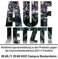 Mi. 8. Juni in Ffm – zentrale Mobilisierungsveranstaltung gegen die IMK