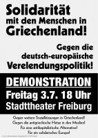 Solidarität mit den Menschen in Griechenland - Gegen die deutsch-europäische Verelendungspolitik!