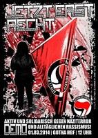 FAU Erfurt/Jena unterstützt antifaschistische Demonstration in Gotha am 1. März