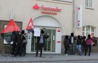 Kundgebung gegen Outsourcing, Entlassung und prekäre Beschäftigung bei Santander