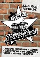 Alle Jahre wieder: Infotisch beim Hausfest des Ju.w.e.l. in Gotha am Samstag