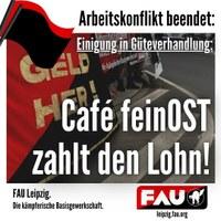"Erfolg im Fall ""Café feinOST""!"