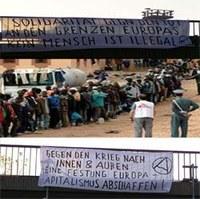 Protest und Öffentlichkeit gegen repressives Verhalten  der EU- und Grenzregime gegen Flüchtlinge